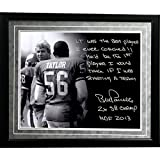 NFL New York Giants Framed 16x20 Bill Parcells Facsimile 'On Lawrence Taylor' Story Photo