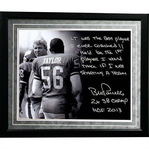 NFL New York Giants Framed 16x20 Bill Parcells Facsimile 'On Lawrence Taylor' Story Photo by Steiner Sports