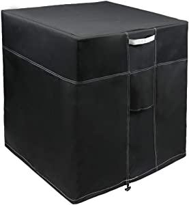 LBG Products Outside Square Black Air Conditioner Cover 32