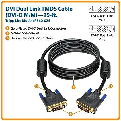 DVI-D M//M Digital TMDS Monitor Cable Tripp Lite DVI Dual Link Cable 100-ft. P560-100