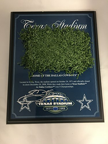 Emmitt Smith Autographed Signed Cowboys Game Used Cowboys Stadium Field Turf Plaque GTSM COA & (Emmitt Smith Autograph)