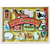 Melissa & Doug Farm Lacing Beads With 13 Wooden Beads and 1 Sturdy Lace