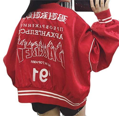 Elásticos College Floreadas Moda Biker Primavera Boyfriend Retro Mujer Bomber Rot Jacket Outdoor Chaquetas Otoño Joven Adelina Ligeros Abrigos Cremallera A6qYRgxcw