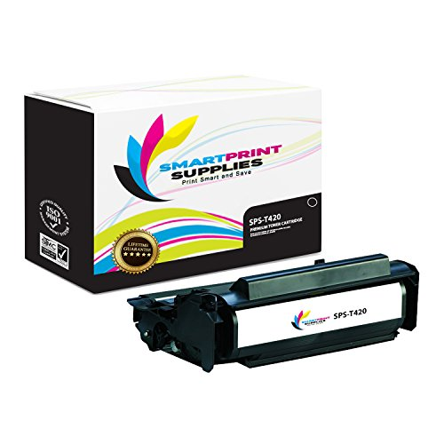 (Smart Print Supplies Compatible 12A7415 Black High Yield Toner Cartridge Replacement for Lexmark T420 Printers (10,000 Pages))
