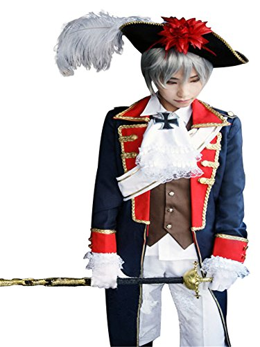 (Mtxc Men's Hetalia: Axis Powers Cosplay Costume Prussia Seven Years' War Army Uniform Size X-Large)