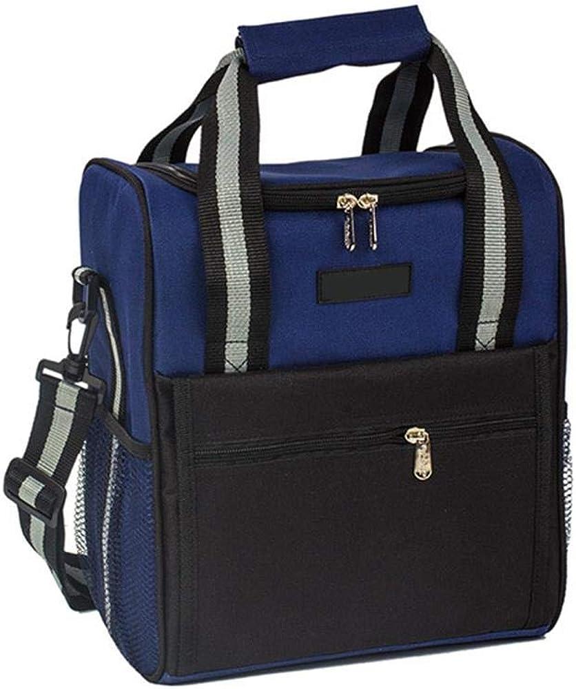 青黒旅行食器アルミ箔断熱バッグ野外活動食器収納袋ポータブルアイスバッグ