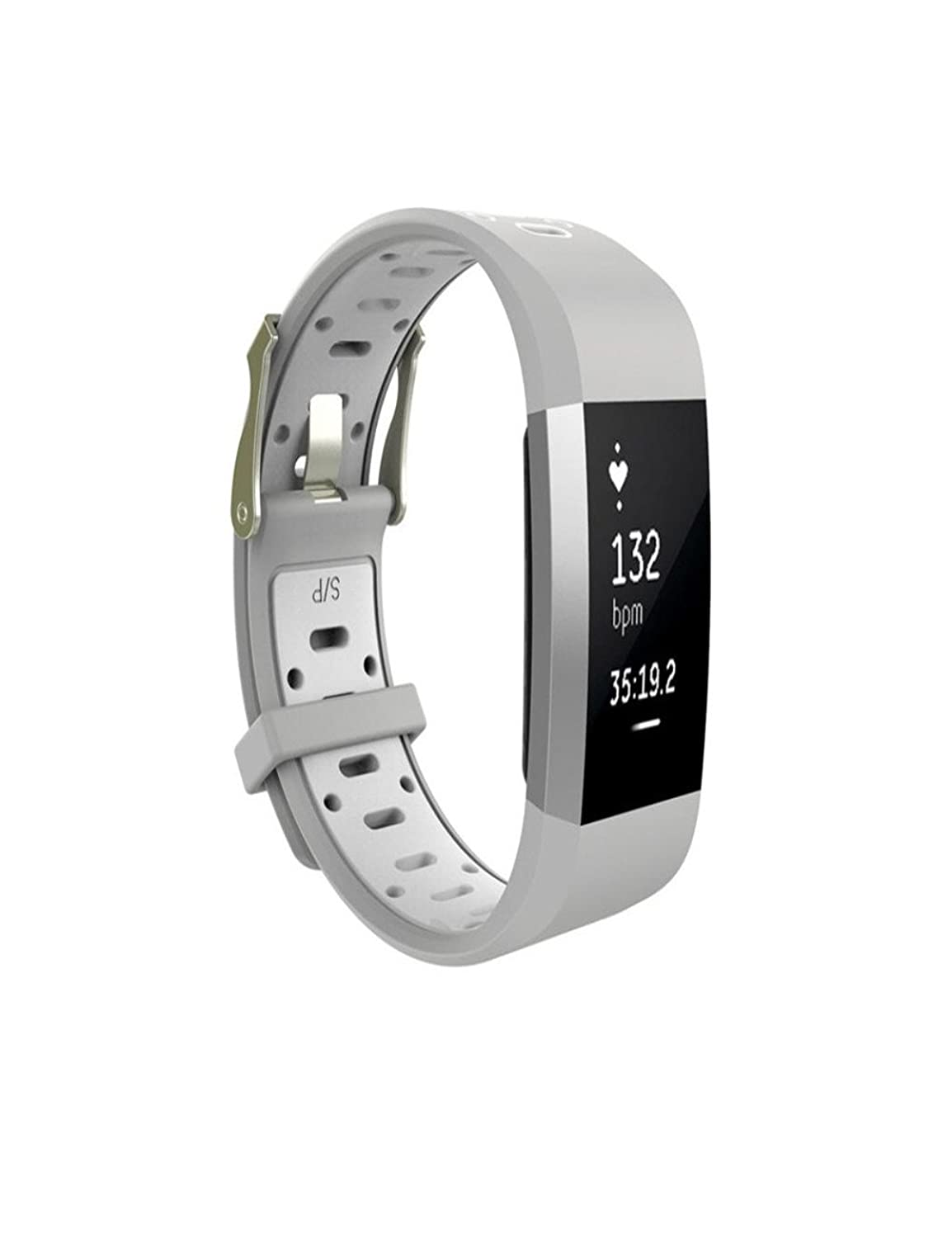 Dreaman交換用時計手首バンドSilicon Strap Clasp for Fitbit Charge 2  B074C3D6DV