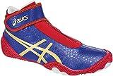 ASICS Men's Omniflex Attack V2.0 Wrestling Shoe, Asics Blue/Gold/Red, 11.5 M US