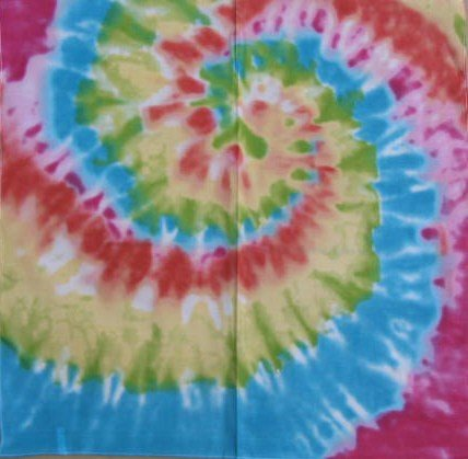 Hippy Tye Dye - Hippie tye dye bandanna tie die bandana hippy head wear