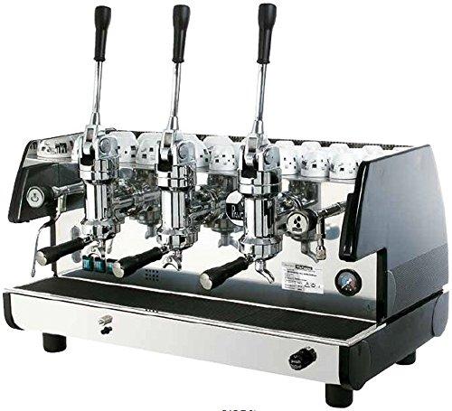 La Pavoni Bar T 3L-B Lever Espresso Coffee Machine with Chromed Brass Groups