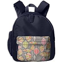 Watercolor Leaves Small Kid' Bag For Boy School Backpacks