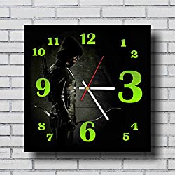 Arrow 11.4'' Handmade Wall Clock - Get unique décor for home or office – Best gift ideas for kids, friends, parents and your soul mates