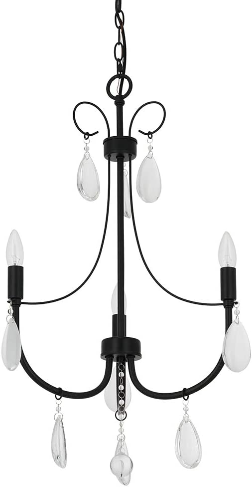 Ravenna Home Classic Light Chandelier, Bulbs Included, Adjustable 29.5-72 H, Dark Bronze