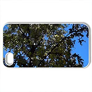 Tree - Case Cover for iPhone 4 and 4s (Forests Series, Watercolor style, White)