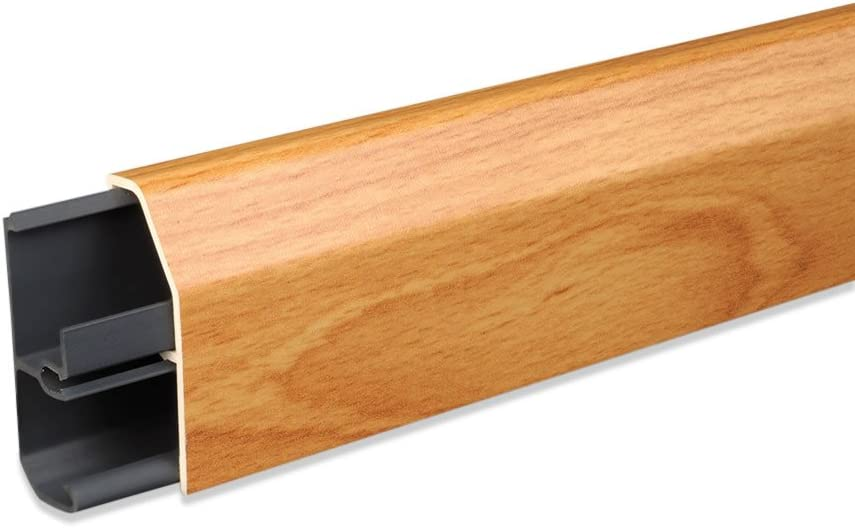 70x50 mm Innenecke IE.0107 integrierter Kabelkanal Kunststoff Fu/ßleisten PVC Moderne Laminatleiste riesige Auswahl Sockelleisten und Zubeh/ör