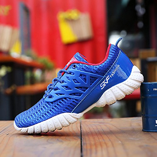 Odema Herren Breathable Sneakers Lace-up Laufen Casual Athletic Sneakers Walking Laufschuhe Blau