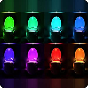 RainBowl Motion Sensor Toilet Night Light - Funny Unique Gift Idea for Mom, Him, Her, Men, Women & Birthday Kid - Cool New Fun Gadget, Best Gag Mother's Day Present