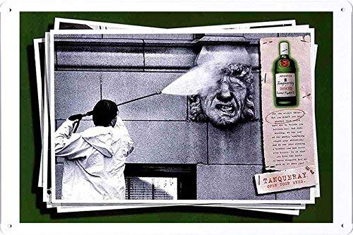 (DYTrade Tin Sign Metal Poster Plate (8x12) of Tanqueray Special Dry Gin: Gargoyle Decor Sign)