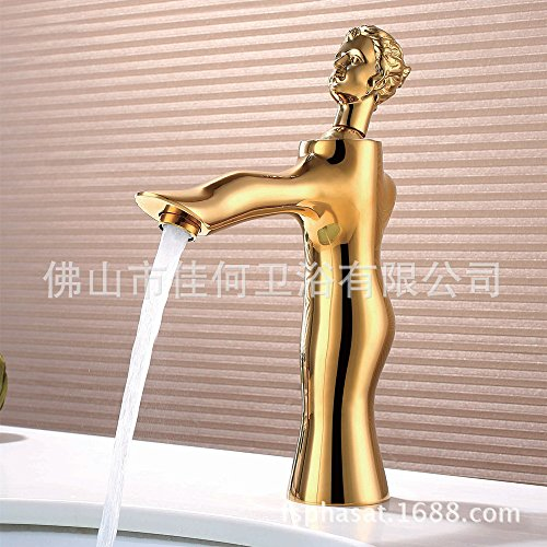 Furesnts Modern home kitchen and Bathroom Sink Taps The Goddess of copper art Basin angle valve luxury  Bathroom Sink Taps,(Standard G 1/2 universal hose ports) by Furesnts Faucet (Image #3)