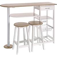 Mesa para cocina de bar moderna de madera