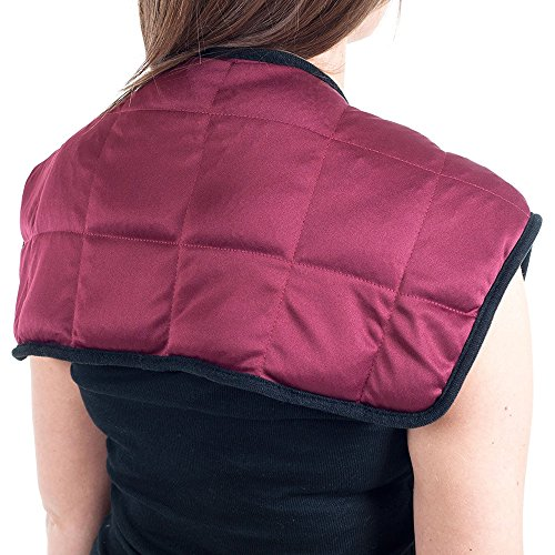 PU Health Hot and Cold Buckwheat Shoulder Comfort Therapy Wrap for Pain Relief ()