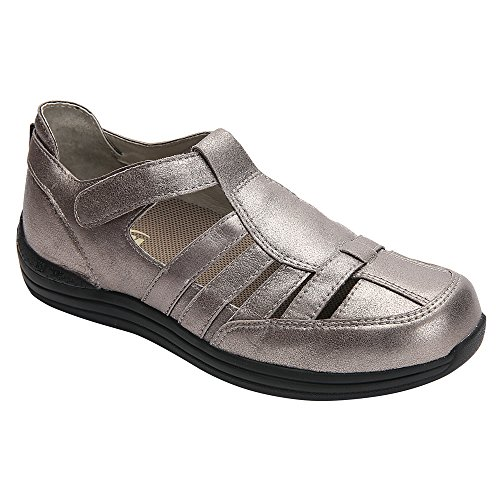 Drew EE 0 EE Sandals Leather Pewter EE Women's 7 86 Shoe Ginger WW Women's 14321 7 Dusty rvCrq6