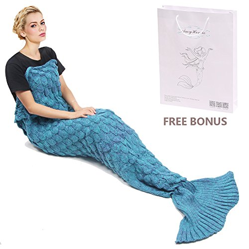 Find Cheap Mermaid Tail Blanket, Amyhomie Mermaid Blanket Adult Mermaid Tail Blanket, Crotchet Kids ...
