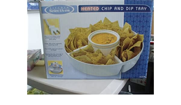 Amazon.com | Kitchen Selectives Heated Chip and Dip Tray: Chip And Dip Serving Sets: Chip & Dip Sets