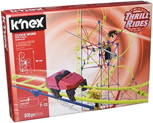 K'NEX Thrill Rides – Clock Work Roller Coaster Building Set – 305 Pieces – For Ages 7+ Engineering Education Toy
