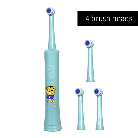Amazon.com: Rotating Children Electric Toothbrush Tooth Brush Teeth Electric Toothbrush Rechargeable Hygiene Dental Care R01 R01 Blue 4heads: Beauty