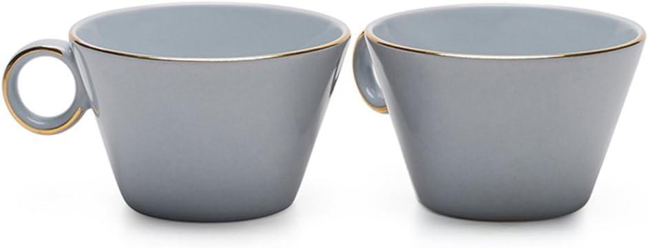 Set of 2 Alice Blue Teabox Lyon Tea Cup Fine Bone China 6.7 fl oz