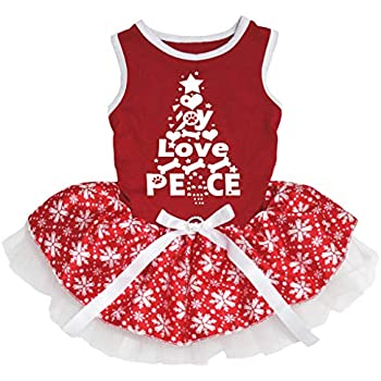 Petitebella I Love Xmas Tree White L//s Shirt Stars Red Bling Skirt Set 1-8y