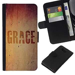 All Phone Most Case / Oferta Especial Cáscara Funda de cuero Monedero Cubierta de proteccion Caso / Wallet Case for Samsung ALPHA G850 // BIBLE Grace