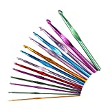 Best Crochet Hooks, Ergonomic Handles For Extreme Comfort, Perfect Hook Set For Beginners, Smooth Needles For Superior Results