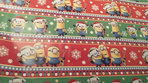 [Christmas Wrapping Despicable Me Minions Holiday Paper Gift Greetings 1 Roll Design Festive Wrap Red] (Infant Red Minnie My First Disney Costumes)