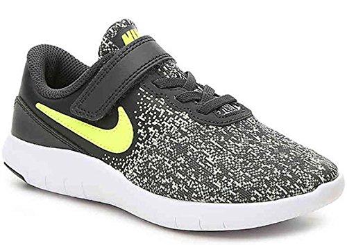 NIKE Kids Flex Contact (PSV) Pre-School Shoes Anthracite Volt Barely Volt White Size 1