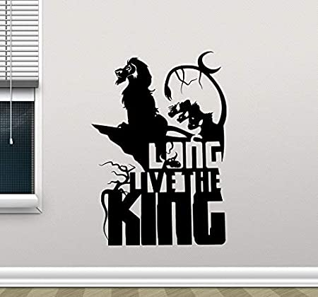 GUUTOP Lion King Vinyl Tatuajes de Pared Simba Long Live The King ...