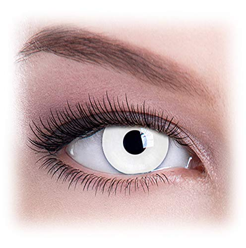 Women Multicolor Cute Charm and Attractive Eye Accessories Cosmetic Makeup Eye Shadow - White Out with Contact Lens Case By Dress You Up TM ()