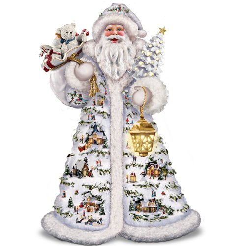 Thomas Kinkade Father Christmas Santa Claus Figurine by The Bradford Exchange