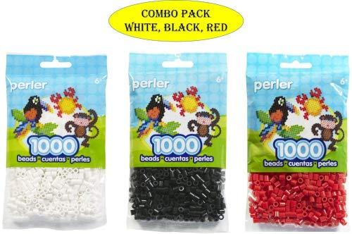 (Perler Beads Bead Bag, White (White-Black-Red) (Original Version) (Original Version))