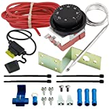 American Volt Adjustable Electric Radiator Fan Thermostat Switch Temperature Controller Kit