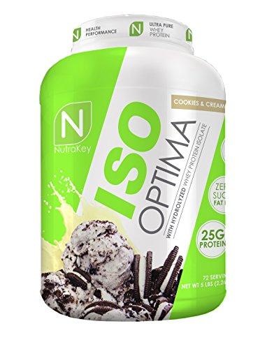 NutraKey ISO Optima Cookie & Cream Protein Supplements, 5...