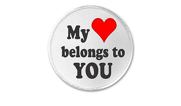 My heart belongs to My Kids 3 Sew On Patch Love