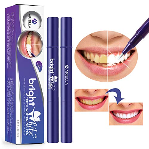 (Teeth Whitening Pen(2 Pack), Safe 35% Carbamide Peroxide Gel, 20+ Uses, Effective, Painless, No Sensitivity, Travel-Friendly, Easy to Use, Beautiful White Smile, Natural Mint Flavor)