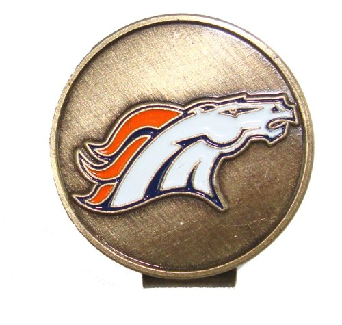 Denver Broncos Golf Hat Clip & Divot Tool with Golf Ball Markers by Waggle Pro Shop (Image #3)