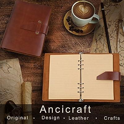 Amazon.com: Ancicraft - Diario clásico simple de piel ...