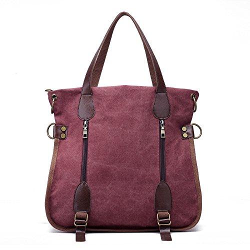 mano azul de de bolsa Fashion mano Crossbody bolsa de all bolso vintage coffee lona lkklily bolso de bolso Purple match hombro Yv1wzUq