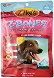 Zuke's Z-Bones Edible Grain-Free Dental Chews, Clean Berry Crisp, Mini 8.25 oz-Ounce, 18 Count