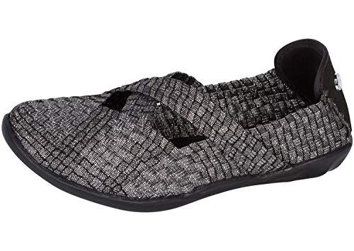 (Bernie Mev Women's, Margo Slip on Shoes (37 M EU, Black Shimmer))