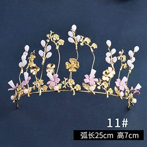 Crystal Crown, Brides Handwork Headwear Wedding Crown Accessories Wedding Hair Ornaments Hair Bands. (Color : O)